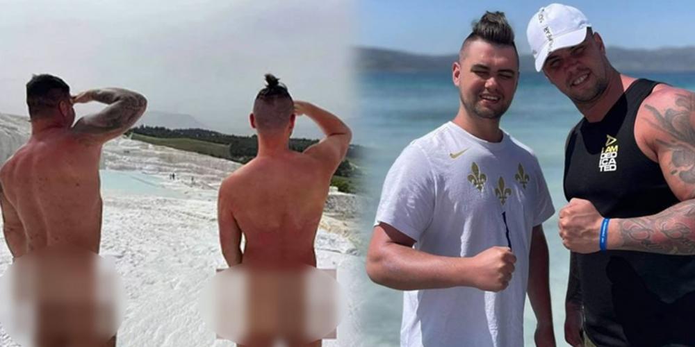 Skandal paylaşım! Pamukkale'de çıplak fotoğraf çektiren 2 turiste tepki 1