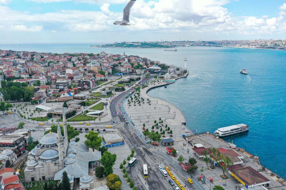 Sokağa çıkma kısıtlamasında Kadıköy Meydanına sessizlik çöktü! 10