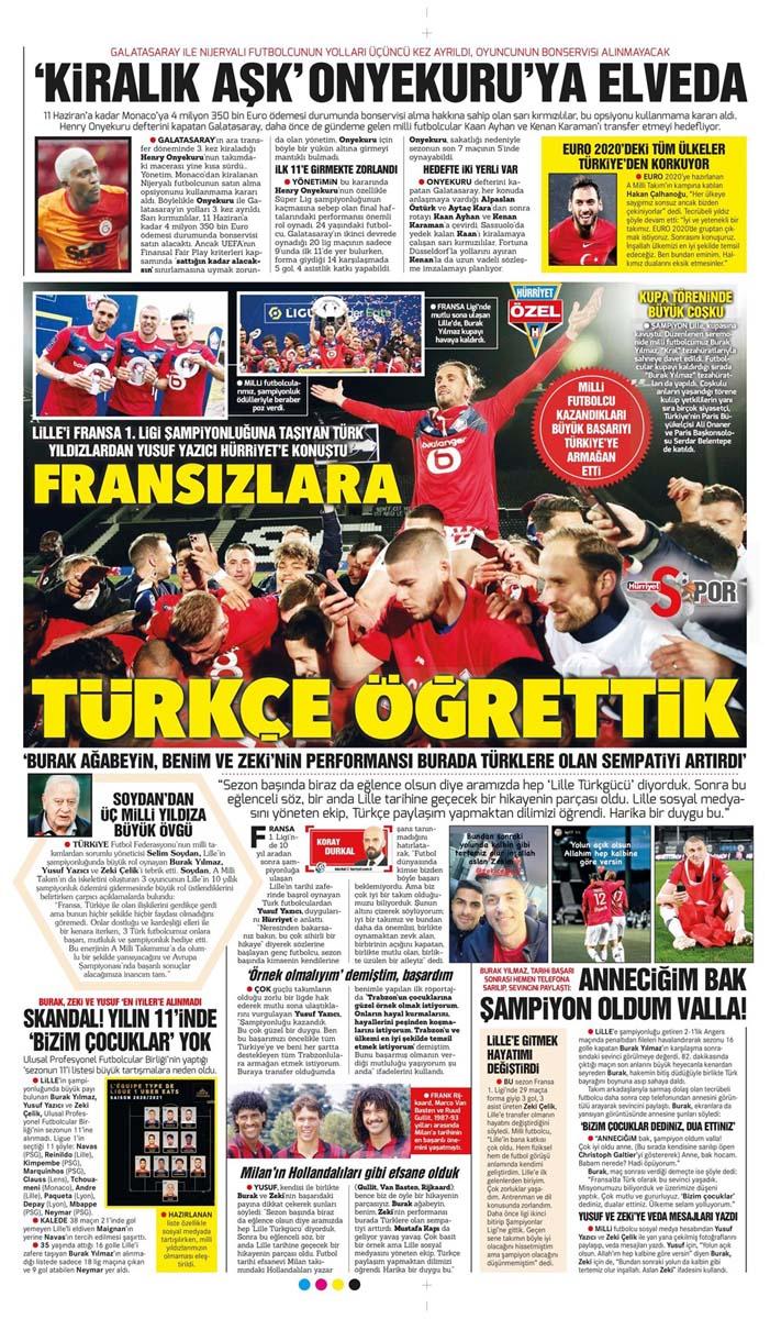 25 Mayıs 2021 Salı günün spor manşetleri | Fenerbahçe, Galatasaray, Beşiktaş ve Trabzonspor'dan haberler 4