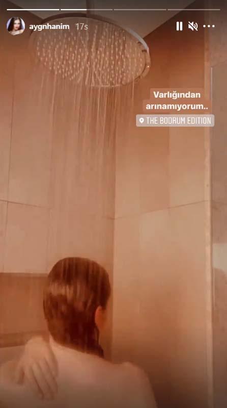 Yine Aygün Aydın yine olay hareket! Duşta video paylaştı, sosyal medya yıkıldı! 6