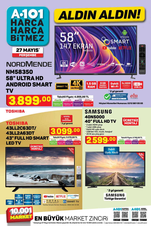 "4 Haziran A101 aktüel ürünler kataloğu | Nordmende NM58350 58"" Ultra HD Android Smart Tv A101'de! 6"