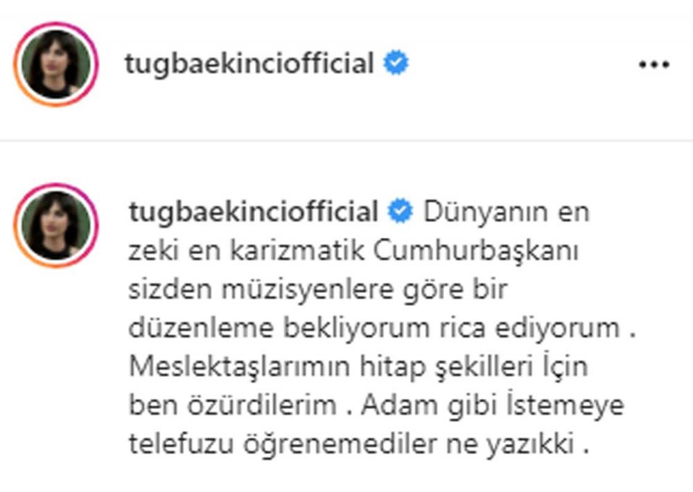 Tuğba Ekinci meslektaşları adına Cumhurbaşkanı Erdoğan'dan özür diledi! 5