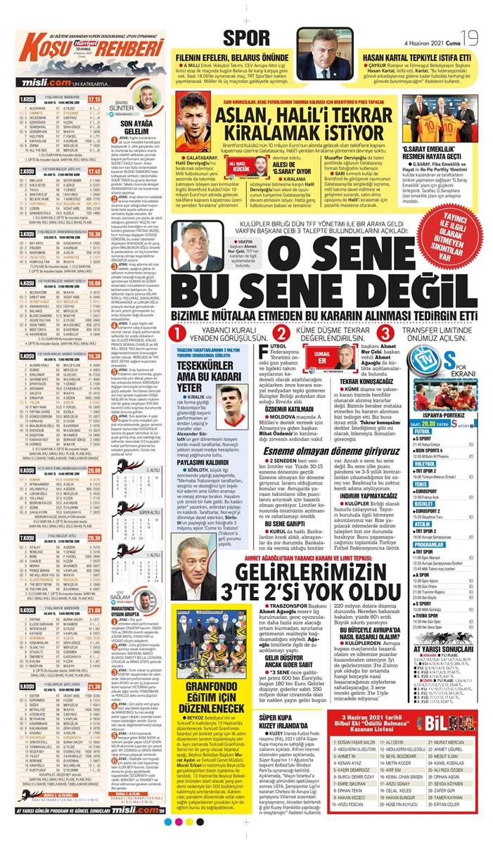 Gazetelerin spor manşetleri (4 Haziran 2021) Fenerbahçe, Galatasaray, Beşiktaş ve Trabzonspor'dan haberler 17