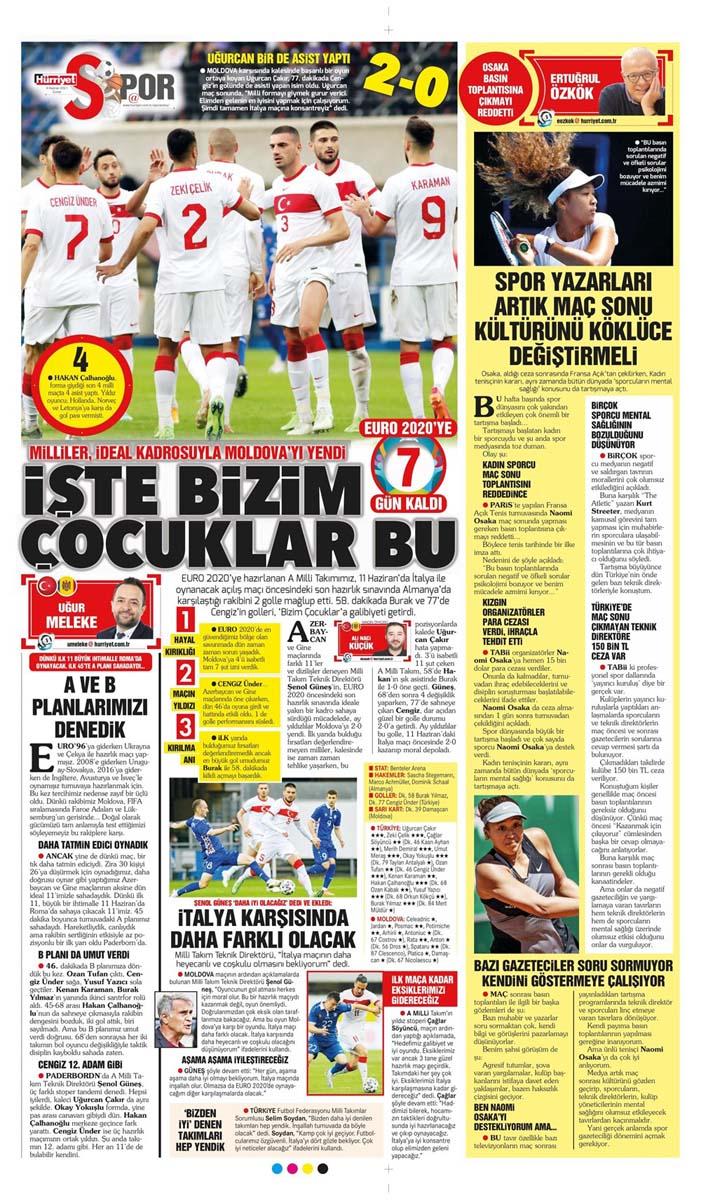 Gazetelerin spor manşetleri (4 Haziran 2021) Fenerbahçe, Galatasaray, Beşiktaş ve Trabzonspor'dan haberler 18