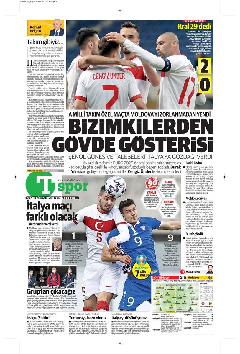 Gazetelerin spor manşetleri (4 Haziran 2021) Fenerbahçe, Galatasaray, Beşiktaş ve Trabzonspor'dan haberler 31