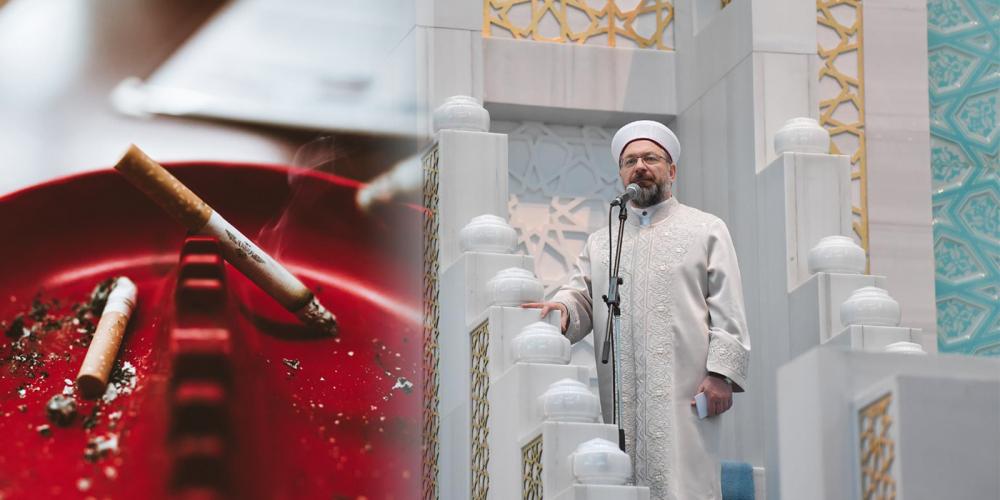 """Diyanet'ten zararlı alışkanlıklar hutbesi: """"Bir müslümanın sigara içmesi caiz değil"""" 1"""