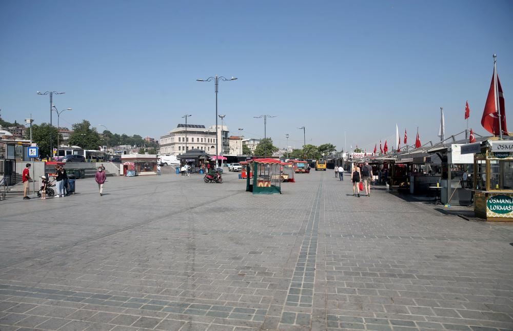 Dün insan kaynıyordu, bugün kimse yok! İşte sokağa çıkma kısıtlamasında İstanbul'dan fotoğraflar 5