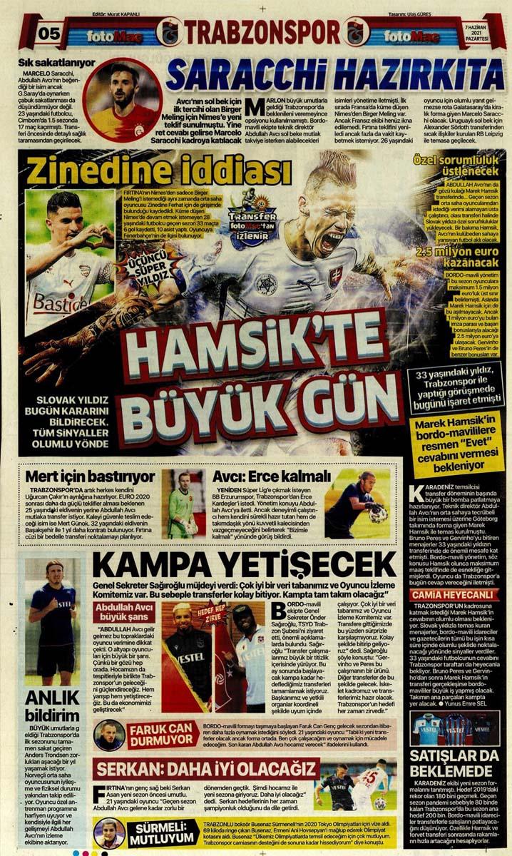 Bugünün spor manşetleri ( 7 Haziran 2021 spor gazetesi manşetleri) | Transfer haberleri 11