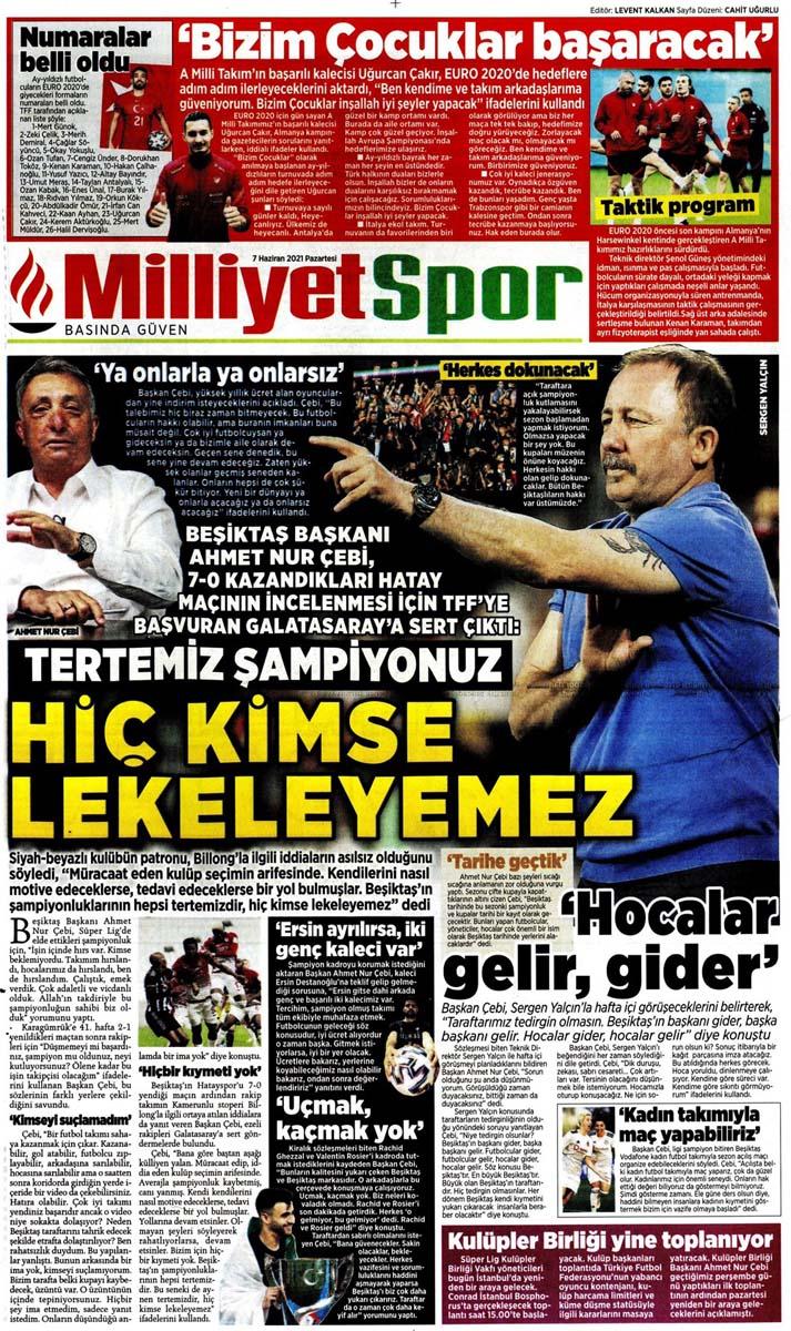 Bugünün spor manşetleri ( 7 Haziran 2021 spor gazetesi manşetleri) | Transfer haberleri 17