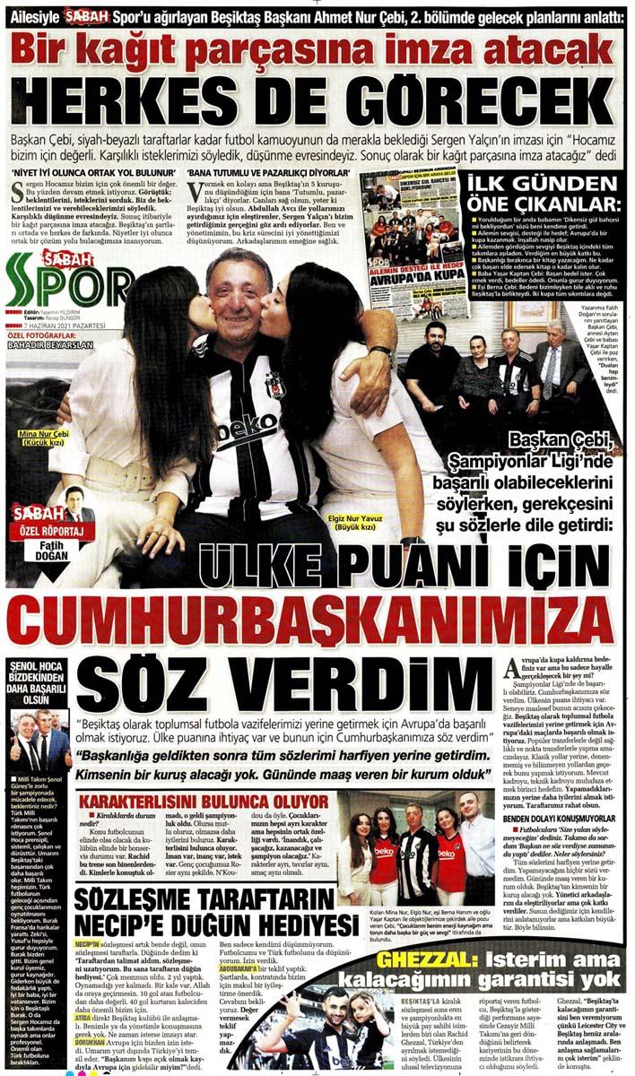 Bugünün spor manşetleri ( 7 Haziran 2021 spor gazetesi manşetleri)   Transfer haberleri 21
