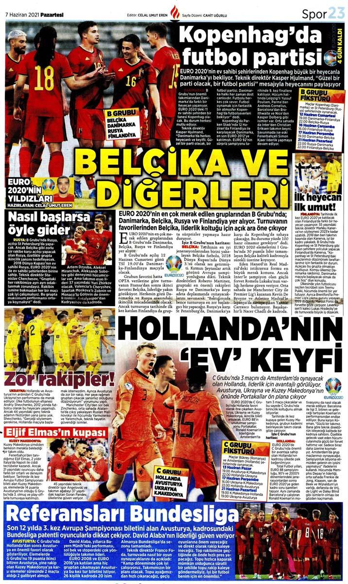 Bugünün spor manşetleri ( 7 Haziran 2021 spor gazetesi manşetleri) | Transfer haberleri 22