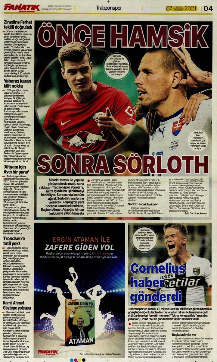 Bugünün spor manşetleri ( 7 Haziran 2021 spor gazetesi manşetleri)   Transfer haberleri 3