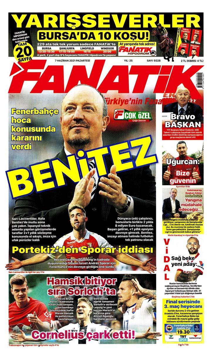 Bugünün spor manşetleri ( 7 Haziran 2021 spor gazetesi manşetleri) | Transfer haberleri 7