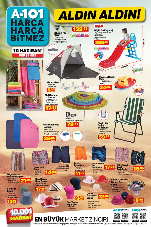 11 Haziran A101 aktüel ürünler kataloğu   Tatil ürünleri en uygun fiyatlarla A101'de! 1