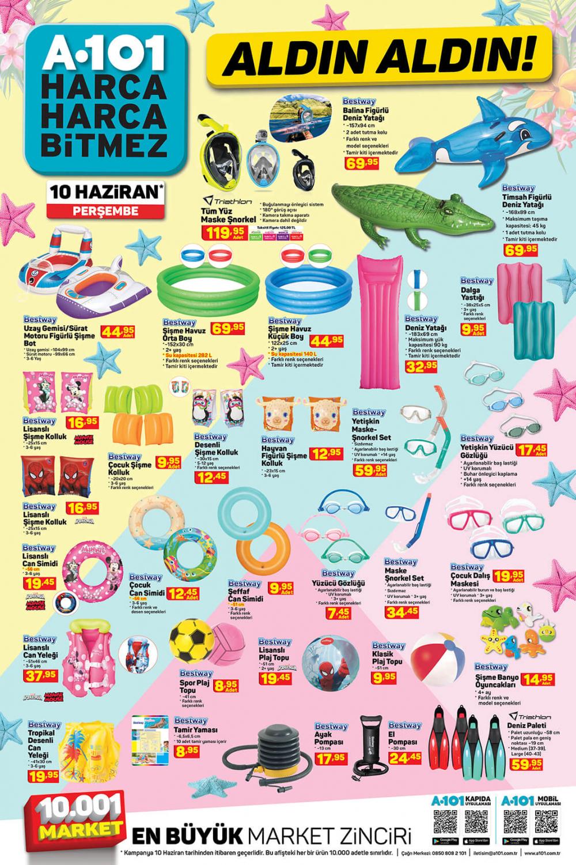 11 Haziran A101 aktüel ürünler kataloğu   Tatil ürünleri en uygun fiyatlarla A101'de! 3