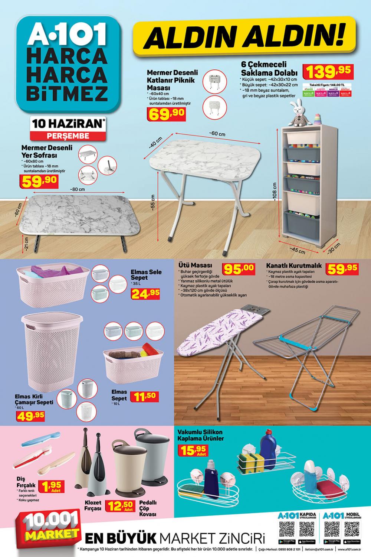 11 Haziran A101 aktüel ürünler kataloğu | Tatil ürünleri en uygun fiyatlarla A101'de! 5