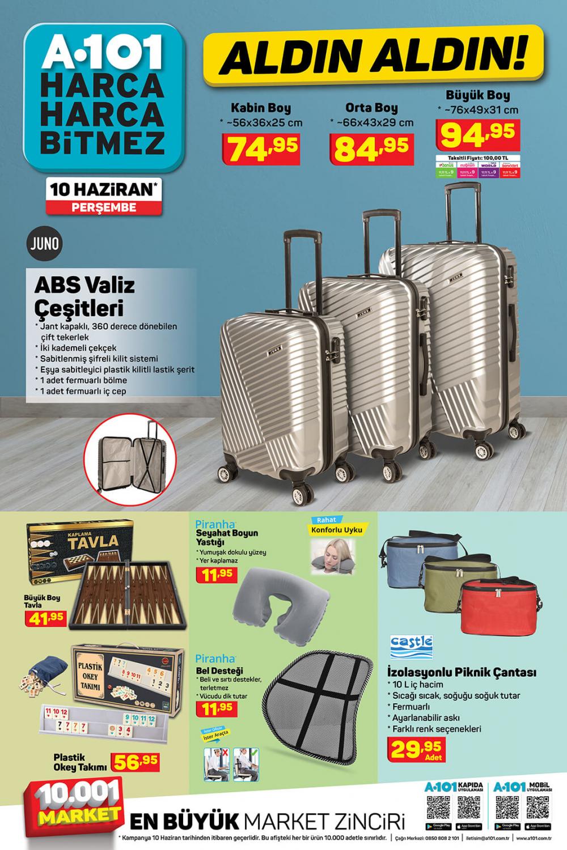 11 Haziran A101 aktüel ürünler kataloğu | Tatil ürünleri en uygun fiyatlarla A101'de! 6