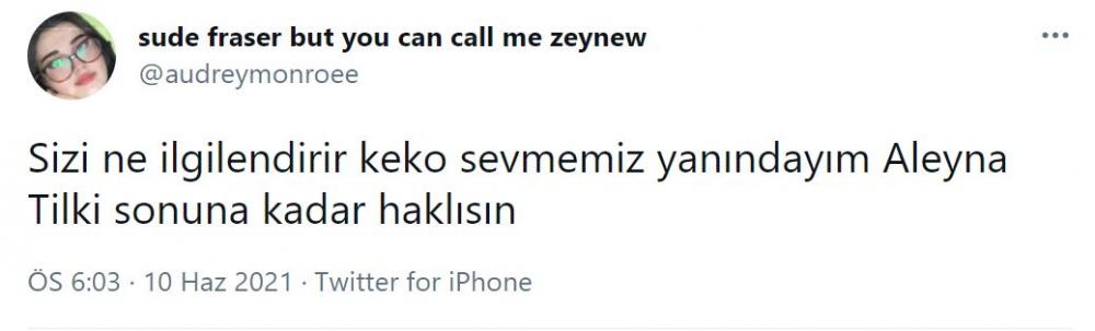 'Sevgilim biraz keko olabilir' demişti! Aleyna Tilki sosyal medyada alay konusu oldu 8