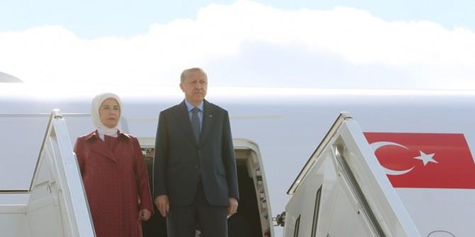 Erdoğan Almanya'da böyle karşılandı