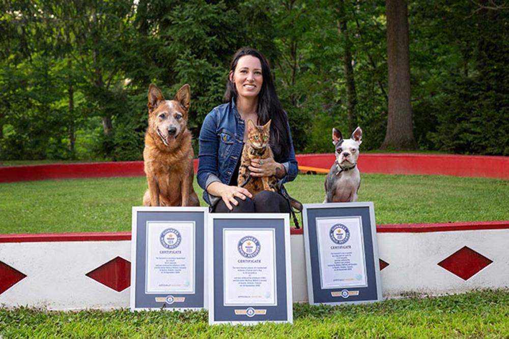 Kedi ve köpeği daha önce böyle görmediniz! İşte Guinness 2022'de yer alan sıra dışı rekorlar! 1