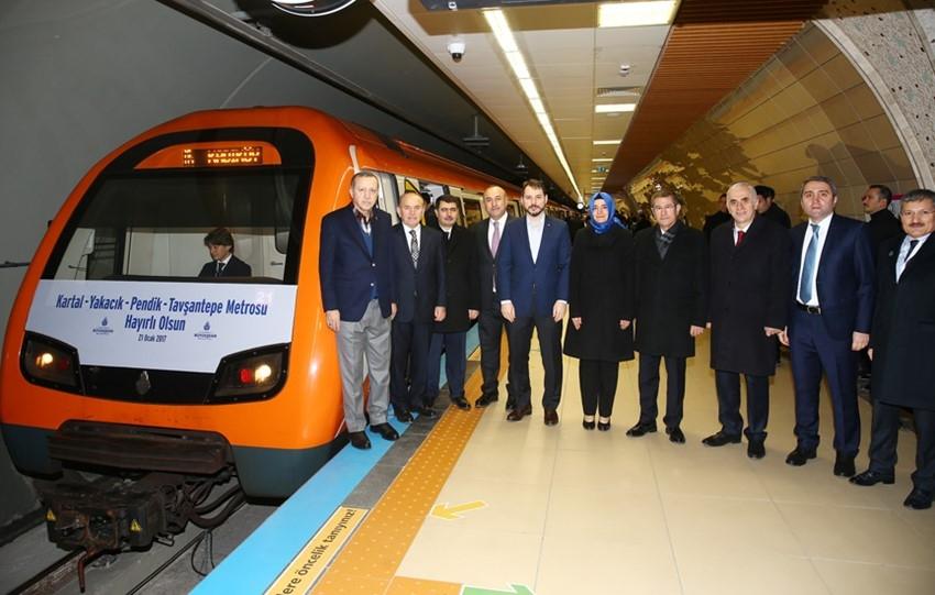 Pendik Tavşantepe metrosu toplu açılış töreni 21 Ocak 2017 14