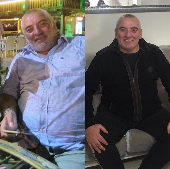 Abidin Yerebakan 8 ayda 132 kilodan 88 kiloya düştü 7