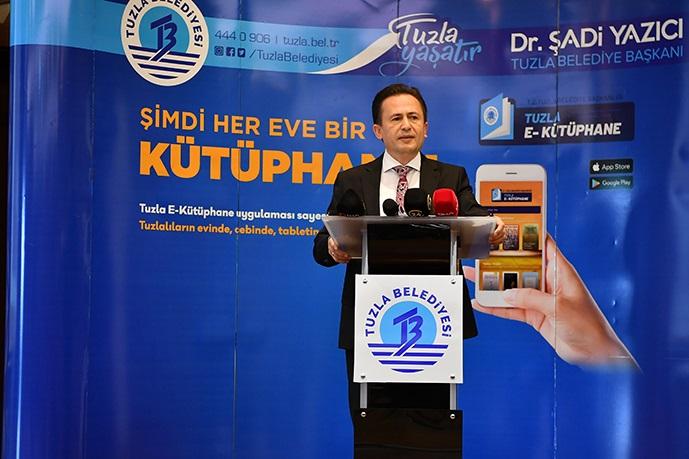"""""""Tuzla e-Kütüphane"""" ile kitap okumayan kalmayacak!"""