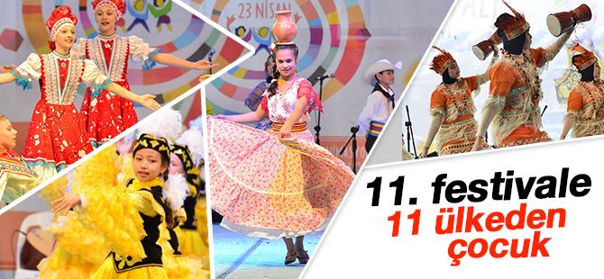 11. Festival'e 11 ülkeden çocuk