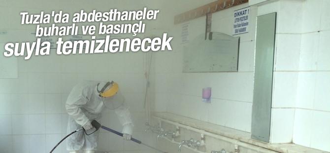 Tuzla'da Abdesthaneler Buharlı ve Basınçlı Suyla Temizlenecek