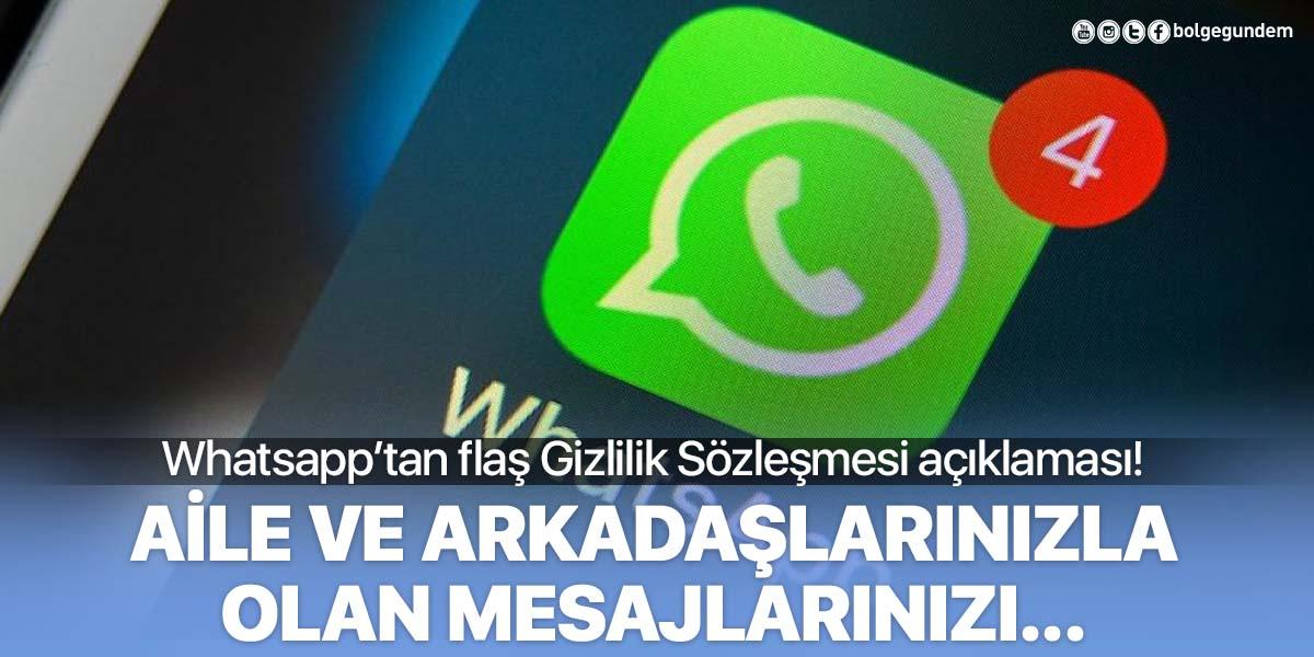 Whatsapp'tan Gizlilik Sözleşmesi'ne ilişkin açıklama: Geri adım atılmayacak!