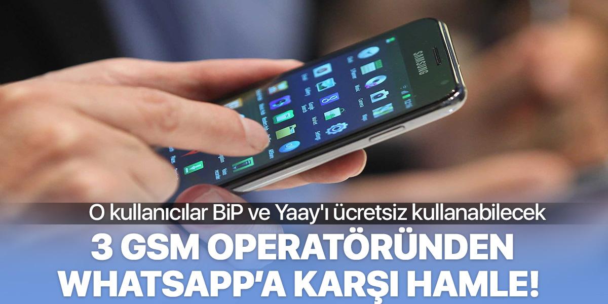 Turkcell, Türk Telekom ve Vodafone'dan WhatsApp'a karşı hamle!