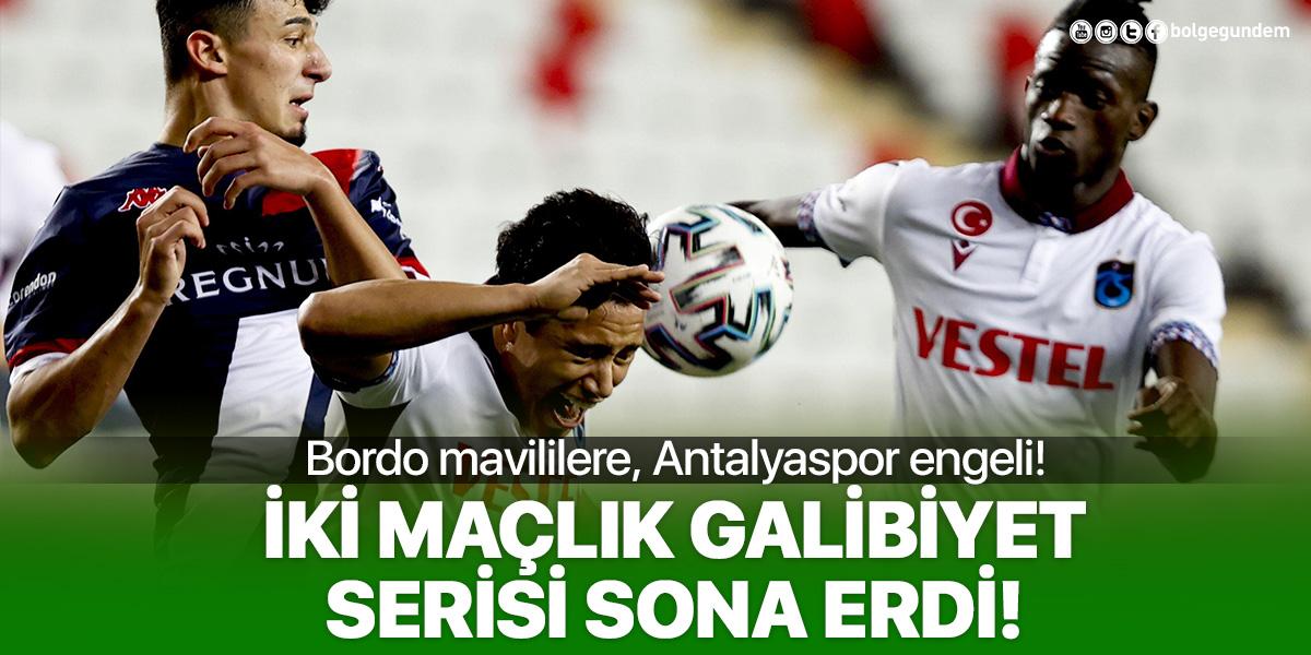 Antalyaspor 1-1 Trabzonspor | MAÇ SONUCU - ÖZETİ