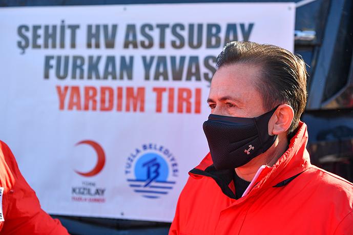 Tuzla'dan Cinderesi bölgesine yardım tırları gitmeye devam ediyor!