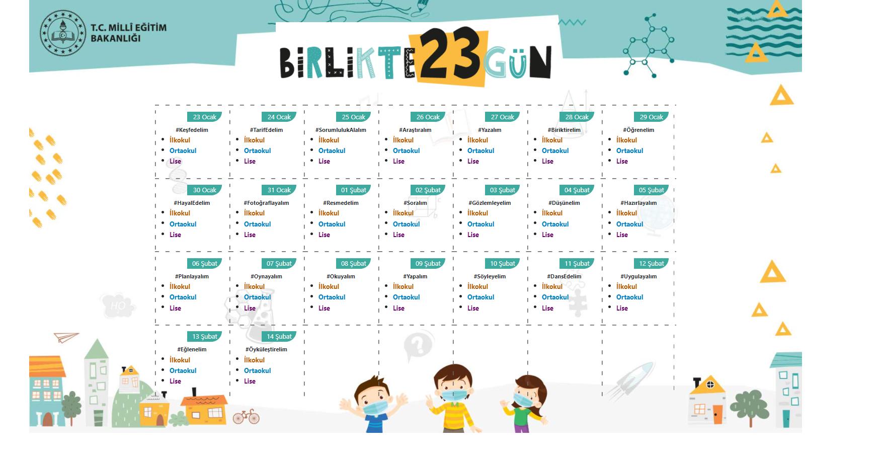 MEB 23 gün etkinlik nedir? 23 gün etkinlik nasıl bakılır, nasıl indirilir? 23 gün etkinlikte neler var?
