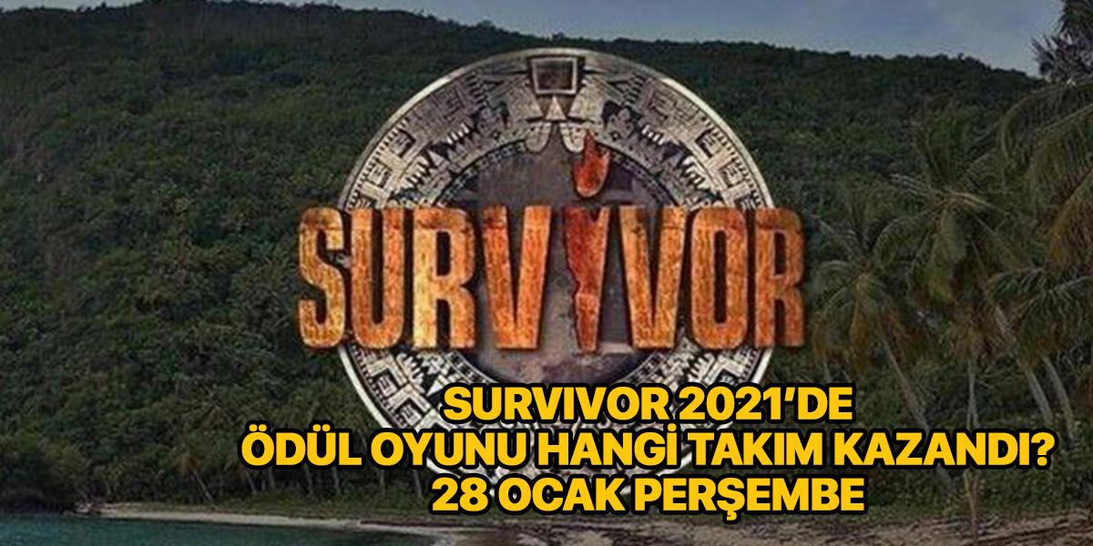 Survivor 2021 ödül oyununu hangi takım kazandı? | Survivor anlat bakalım oyununu kim kazandı? 28 Ocak
