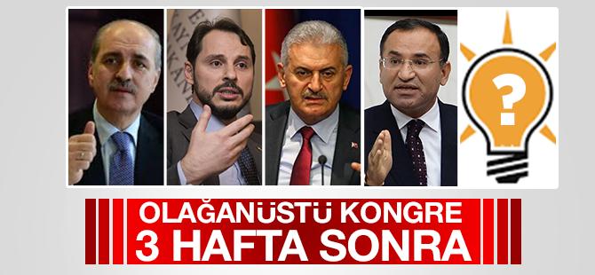 Ak Parti'de Olağanüstü Kongre 3 Hafta Sonra!