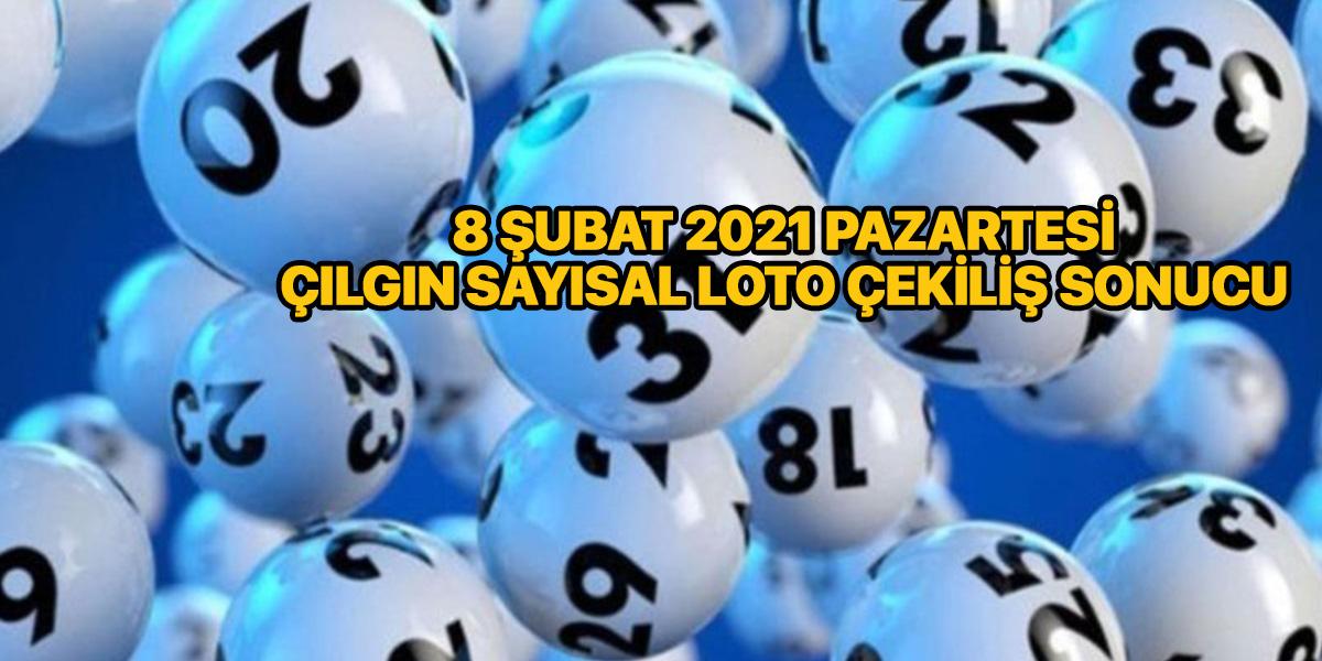 Çılgın sayısal loto sonuçları 8 Şubat 2021 Pazartesi   Sonuç sorgulama ekranı