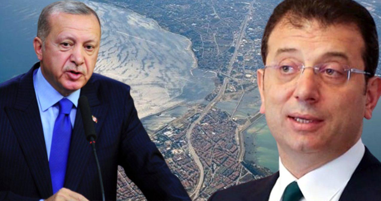 Cumhurbaşkanı Erdoğan'ın 'Kanal İstanbul'u inadına yapacağız' ifadelerine İmamoğlu'ndan ilk yanıt