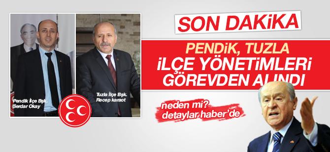MHP Pendik, Tuzla İlçe Yönetimleri Görevden Alındı