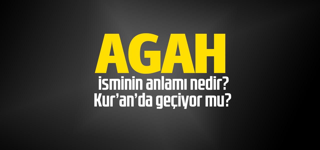 Agah isminin anlamı nedir, Agah ne demektir? Kuranda geçiyor mu?