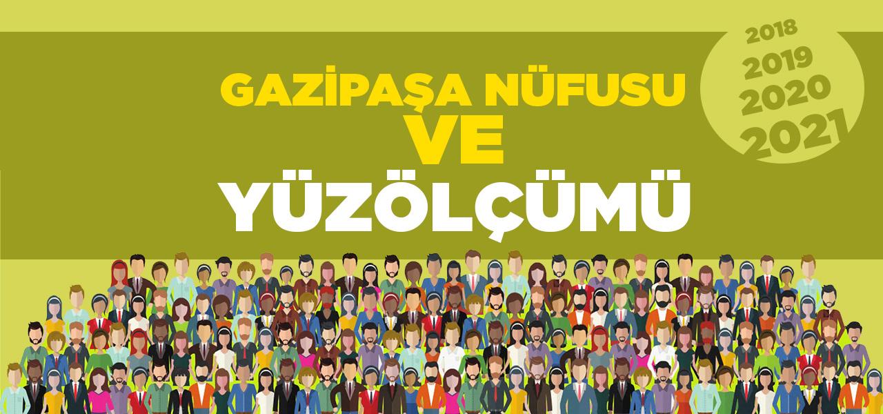 Antalya Gazipaşa Nüfusu 2020 - 2021 | Gazipaşa İlçesinin Yüzölçümü kaçtır?