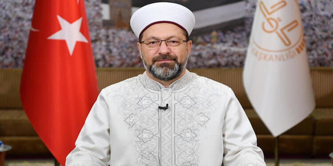 Diyanet İşleri Başkanı Prof. Dr. Ali Erbaş'tan koronavirüs açıklaması