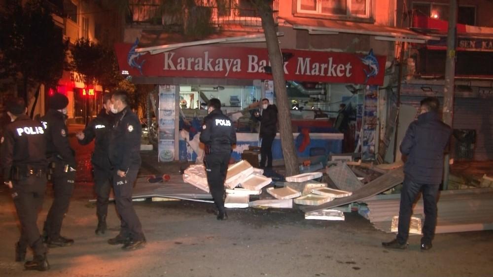 İstanbul'da bir balıkçı dükkanında korkutan patlama!