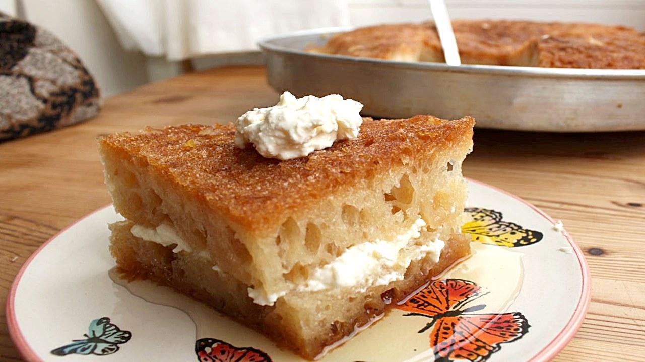 Gelinim Mutfakta Kaymaklı Ekmek Kadayıfı tarifi | Kaymaklı Ekmek Kadayıfı nasıl yapılır? Malzemeleri nelerdir?