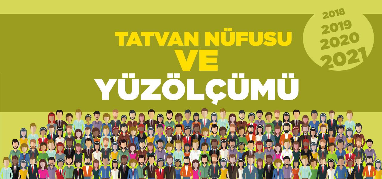 Bitlis Tatvan Nüfusu 2020 - 2021   Tatvan İlçesinin Yüzölçümü kaçtır?