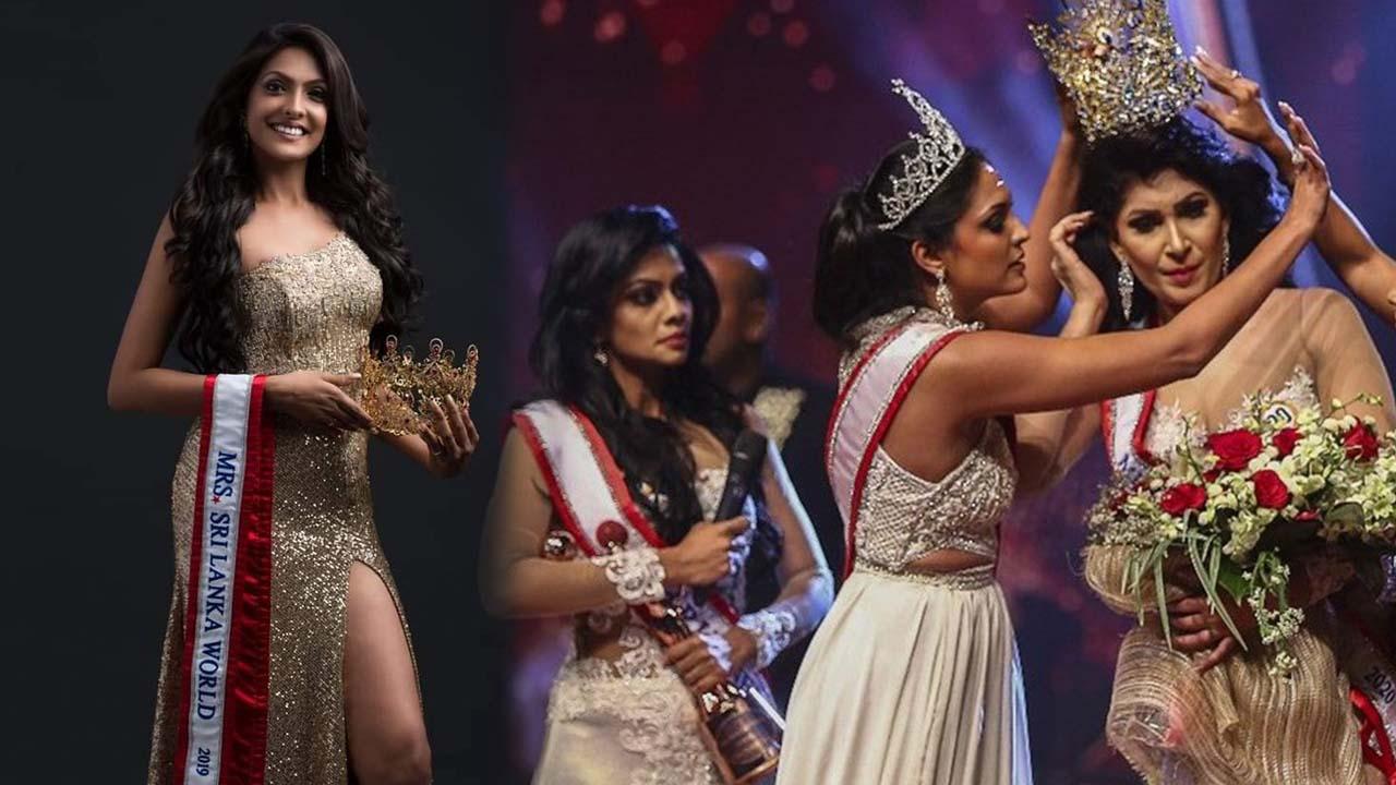 """Olaylık güzellik yarışmasının yankıları sürüyor! Yeni Sri Lanka güzelinin tacını zorla alan """"2019 güzeli"""" gözaltına alındı"""