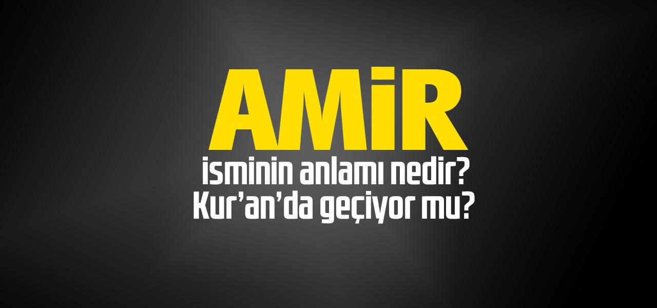 Amir isminin anlamı nedir, Amir ne demektir? Kuranda geçiyor mu?