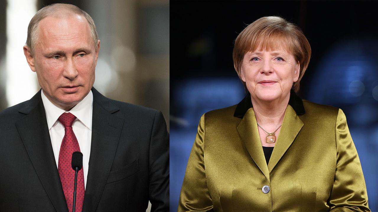 Liderlerin kritik görüşmesi! Putin ile Merkel, Donbass'ı görüştü