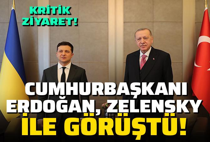 SON DAKİKA! Cumhurbaşkanı Erdoğan ile Zelenskiy görüşmesi başladı