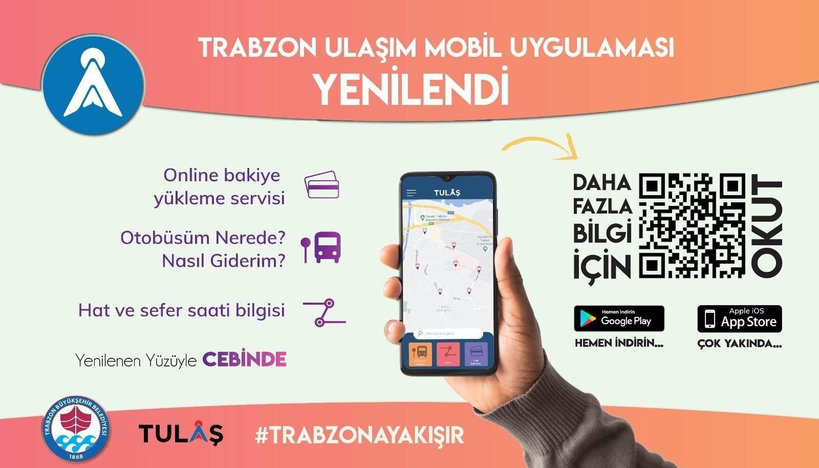 Trabzon'da ulaşım güncellenen mobil uygulama ile artık daha kolay!